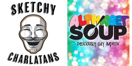 Improv Double Header - Sketchy Charlatans & Alphabet Soup tickets