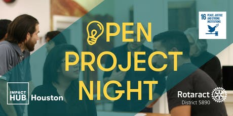 Open Project Night SDG 16: Peace, Justice and Strong Institutions tickets