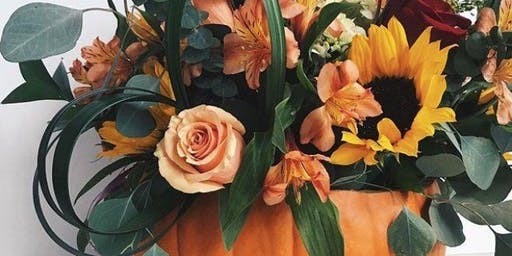 Autumnal Floral Pumpkin Display Workshop with Lunch