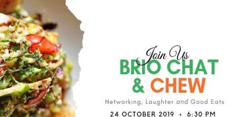 Chat & Chew at BRIO tickets