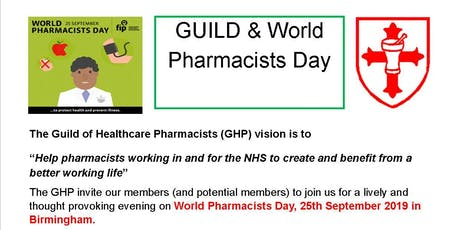 GHP World Pharmacists Day event Conference Aston Hotel Birmingham B4 7ET tickets