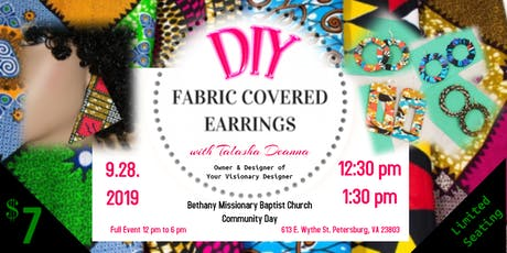 DIY Fabric Covered Earrings tickets