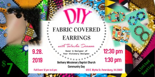 DIY Fabric Covered Earrings