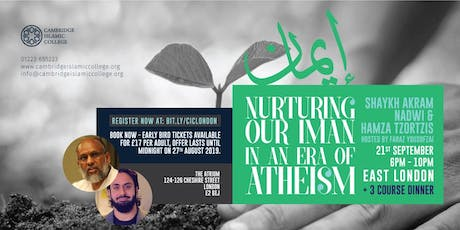 Nurturing our Iman in an Era of Atheism tickets