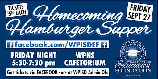 Homecoming Hamburger Supper