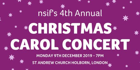 nsif 4th Annual Christmas Carol Concert tickets