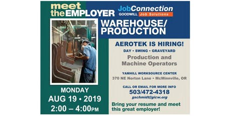 Hiring Event - McMinnville - 8/19/19 tickets