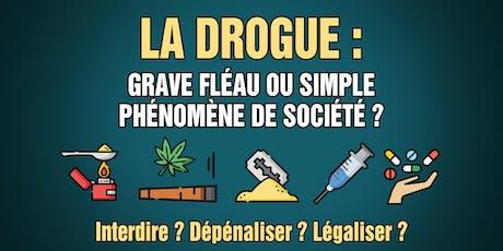Conférence gratuite I La drogue : fléau ou phénomène de société ? billets