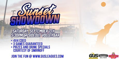 Sunset Showdown 4v4 Sand Volleyball Tournament Presented By Smirnoff tickets