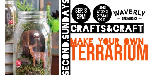 Mason Jar Terrarium - Crafts and Craft Second Sundays