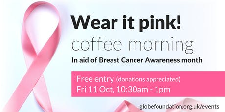 Wear It Pink! coffee morning tickets