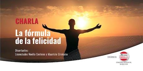 La fórmula de la felicidad- 29 de agosto en la Legislatura de Mendoza a las 18hs entradas