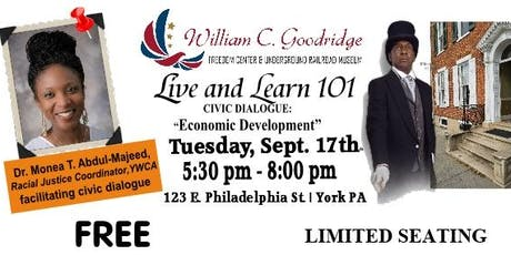 Live and Learn101 - Civic Dialogue Economic Development tickets