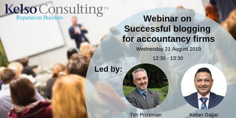 Successful blogging for accountancy firms - Webinar - August 2019 tickets