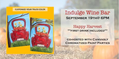Happy Harvest: Sip & Paint @ Indulge tickets