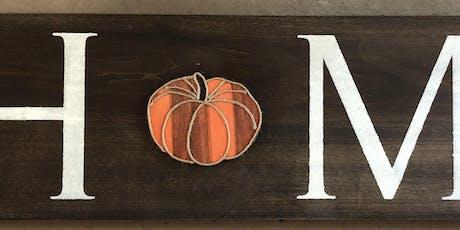 """Pumpkin"" Wood Craft Night tickets"