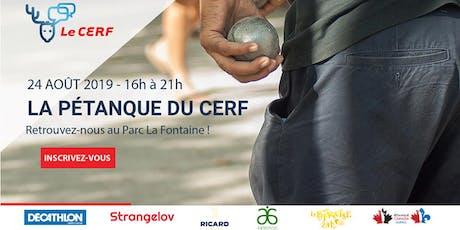 LE CERF - Tournoi de Pétanque 2019 billets