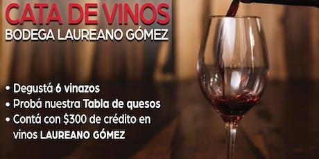 Cata de vinos Bodega Laureano Gomez entradas