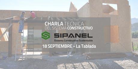CHARLA T´ECNICA para Instalar con el Sistema Constructivo Sipanel entradas