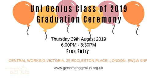 Generating Genius  presents Uni Genius Graduation 2019