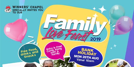 Winners Family Love feast 2019 tickets