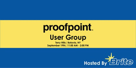 Proofpoint User Group tickets