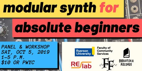 Modular Synth For Absolute Beginners tickets
