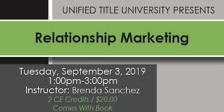 Colorado Springs - Relationship Marketing tickets