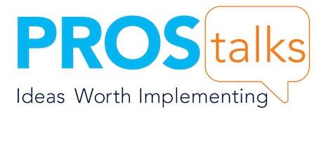 PROS Talks 2019 tickets
