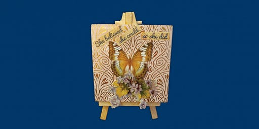 MAKE, CRAFT & DO: Decorative Canvas Collage & Easel with Maureen Tillman