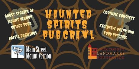 Haunted Spirits Pub Crawl tickets