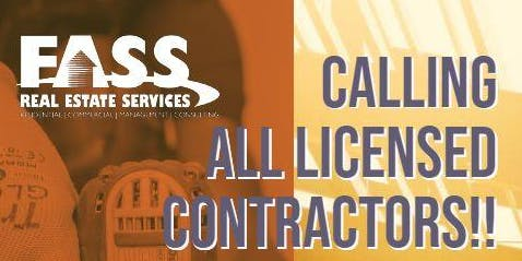 FASS Presents- Licensed Contractor Event