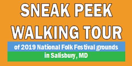 Sneak Peek Walking Tour tickets