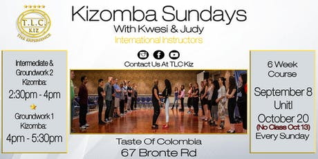 Kizomba Dance Lessons In Oakville With Kwesi & Judy tickets