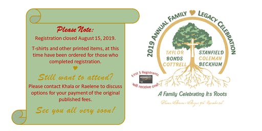2019 Annual Family Legacy Celebration