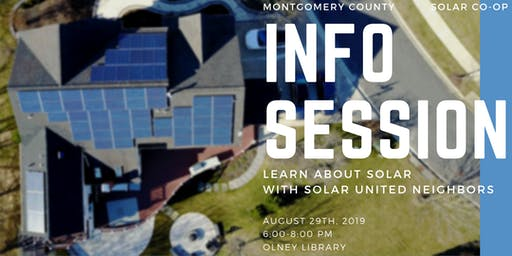 Montgomery Solar Co-op Final Info Session