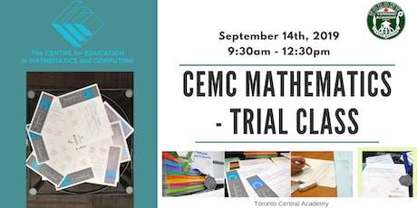 CEMC Mathematics trial class tickets
