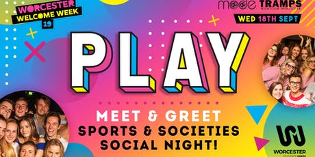 Play - Sports and Societies meet and greet! tickets