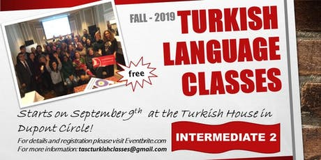 TASC Turkish Language Classes - Intermediate 2 tickets