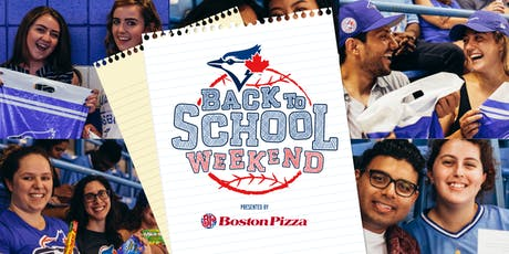Toronto Blue Jays vs. Houston Astros - Back to School Weekend with Student Life Network tickets