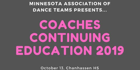 MADT Coaches Continuing Education 2019 tickets