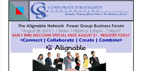 The Alignable Network Power Group Business Forums | August tickets