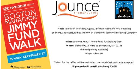 Jounce Jimmy Fund Fundraiser: Raffle & Silent Auction tickets