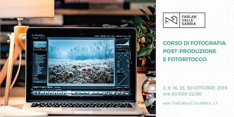 Corso di post-produzione fotografica e fotoritocco biglietti