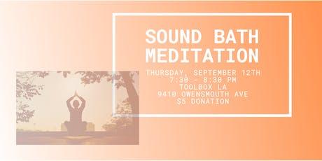 Sound Bath Meditation: September Full Moon  tickets