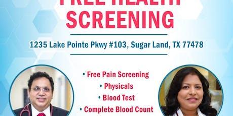 Free Health Screening tickets