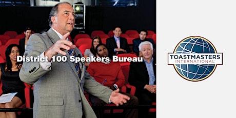 District 100, Speakers Bureau - 09/07/19   tickets