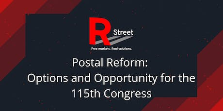Postal Reform: Options and Opportunity for the 115th Congress tickets