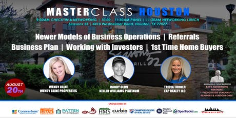 MASTERCLASS HOUSTON DISRUPTORS IN OUR MARKET tickets