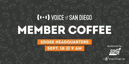Member Coffee at SDG&E Headquarters: September 18th